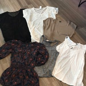 Tops - Lot of six women's extra small tops